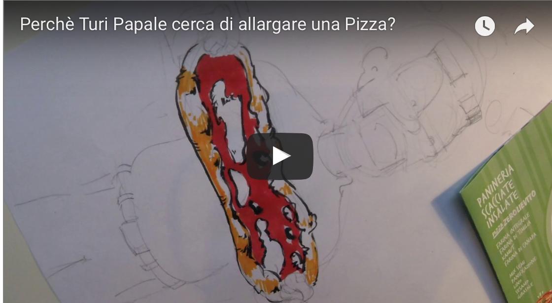 30 secondi – Perché Turi Papale cerca di allargare una pizza?