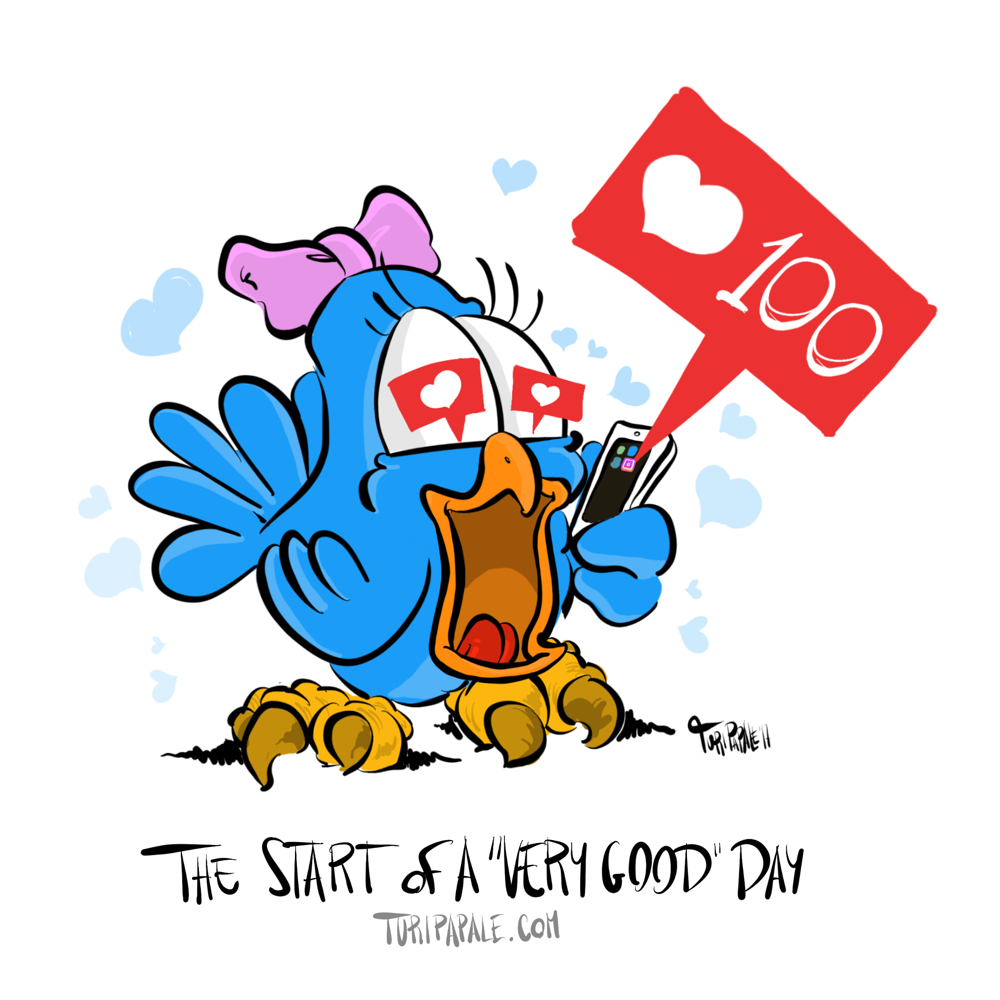 """📱🐦☀️ The start if a """"very good"""" day"""